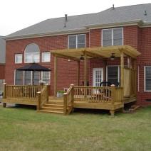Deck & Arbor w/Herringbone Lattice