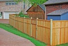 Wood Privacy Fence w/Cap & Trim and Exposed Posts