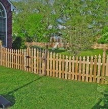 Wood Picket Fence — French Gothic, Scalloped